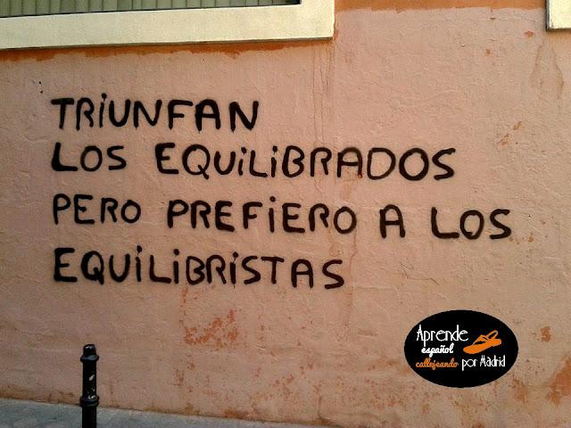 Aprende español callejeando por Madrid: Verde que te quiero verde