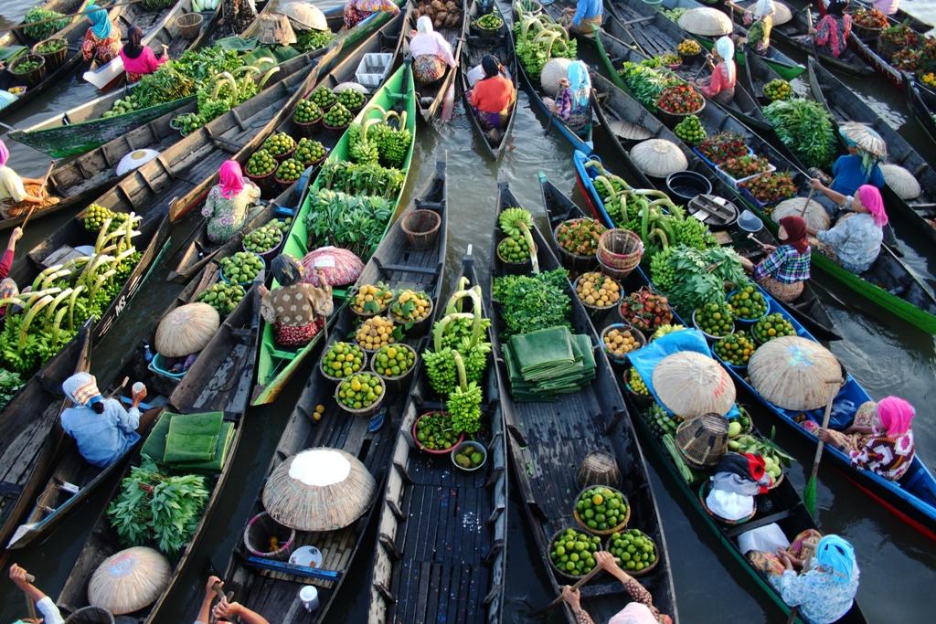 Pasar Tradisional Pasar Terapung Kecamatan Banjarmasin Utara