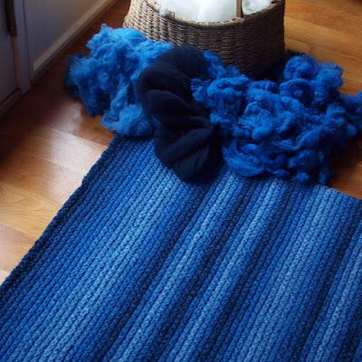 Ocean Currents Rug by Moira Ravenscroft, Wyndlestraw Designs