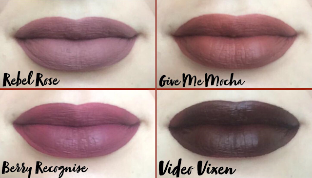 Wet n Wild MegaLast Liquid Catsuit Matte Lipstick Lip Swatches