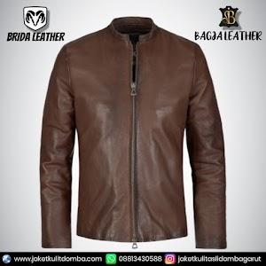 Jual Jaket Kulit Asli Garut Pria Domba Original Brida Leather B19   WA 08813430588