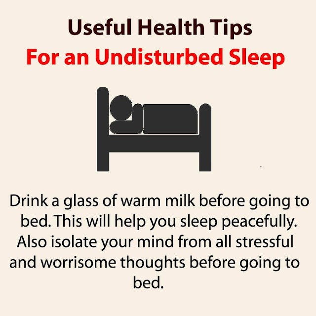 Health Tips - Undisturbed Sleep