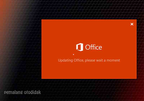 Updating office please wait a moment