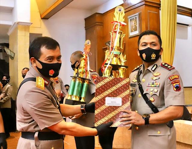 Polres Wonogiri Raih Juara Pertama Kampung Siaga Covid-19