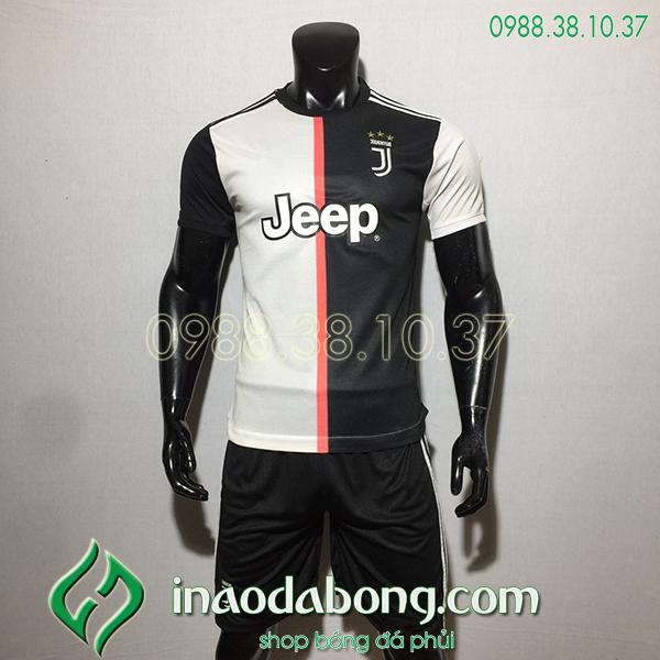 Áo bóng đá câu lạc bộ Juventus màu trắng đen 2020