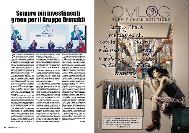 OTTOBRE 2019 PAG. 16 - Sempre più investimenti green per il Gruppo Grimaldi