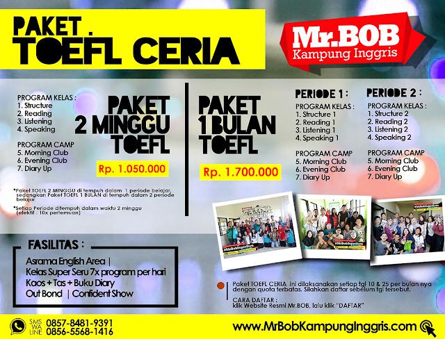 Paket TOEFL Mr.BOB