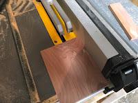 Cutting out cedar strips