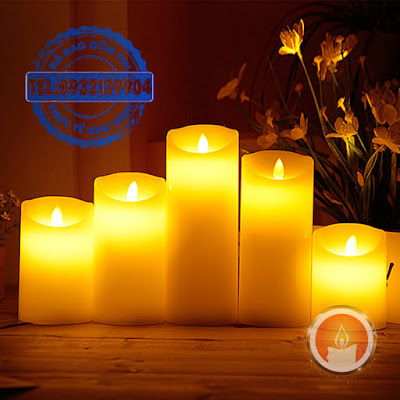 Đèn nến vỏ sáp điện ngọn đèn lắc lư
