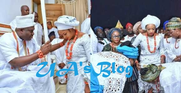 Ooni of Ife gifts new Queen, Prophetess Naomi Oluwaseyi, a Mansion and two luxurious cars