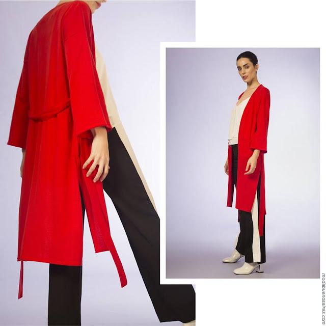 Saco rojo largo verano 2019. Moda mujer primavera verano 2019.