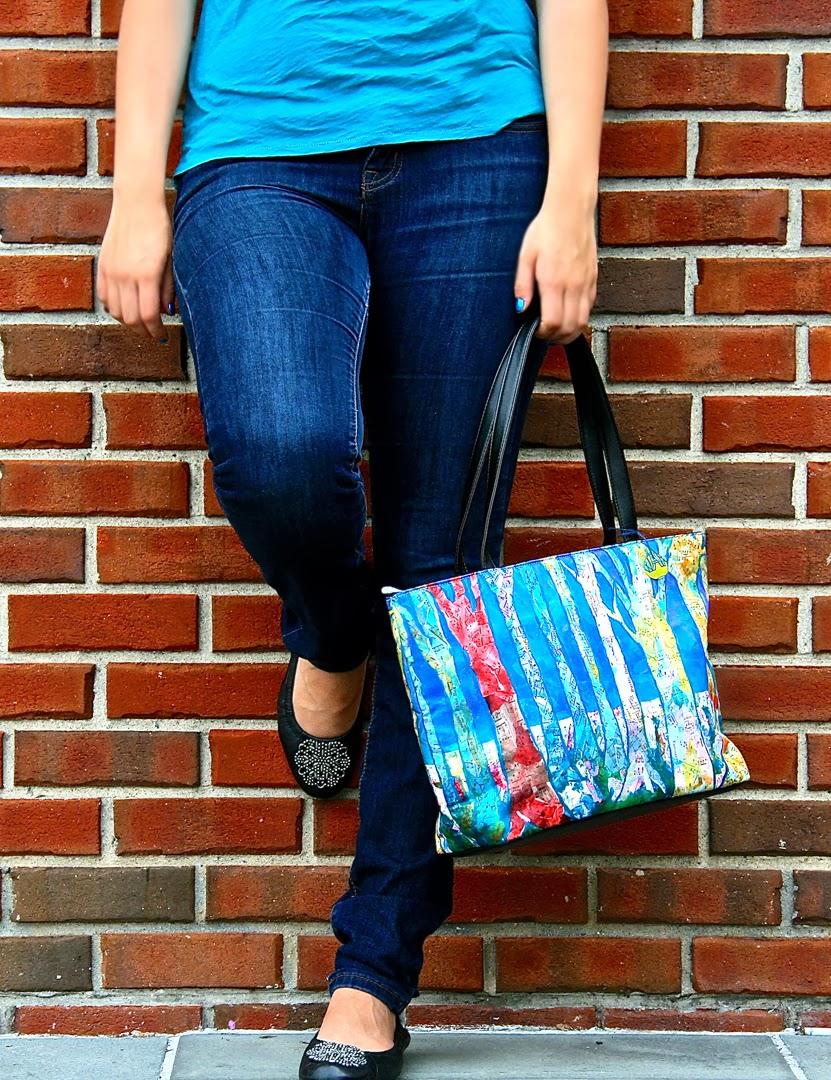 blue handbags