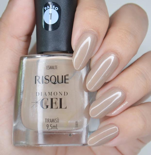 Tiramisù Esmaltes Risqué Diamond Gel