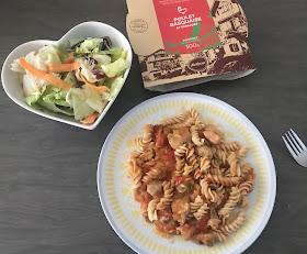 DietBon pasta meal with a side salad