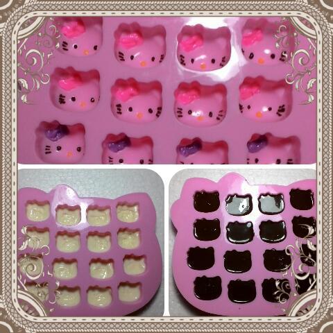 Cara Membuat Coklat Praline Hello Kitty Coklat Mama Ina