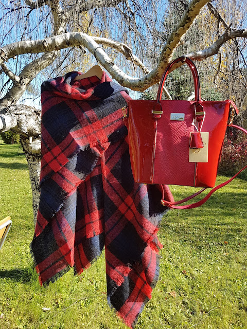 red purse at The Camellia