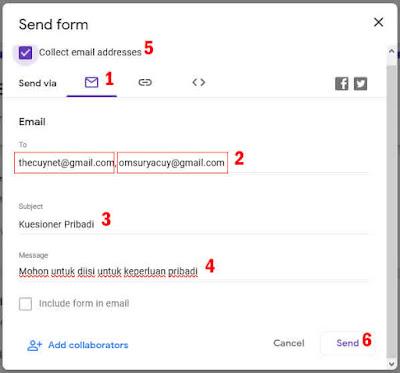 send form melalui email