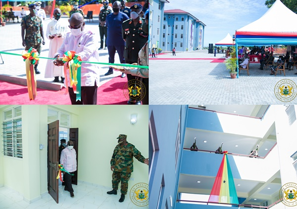 President Akufo-Addo Commends Military For Exemplary Covid-19 Fight; Commissions Housing Apartments.
