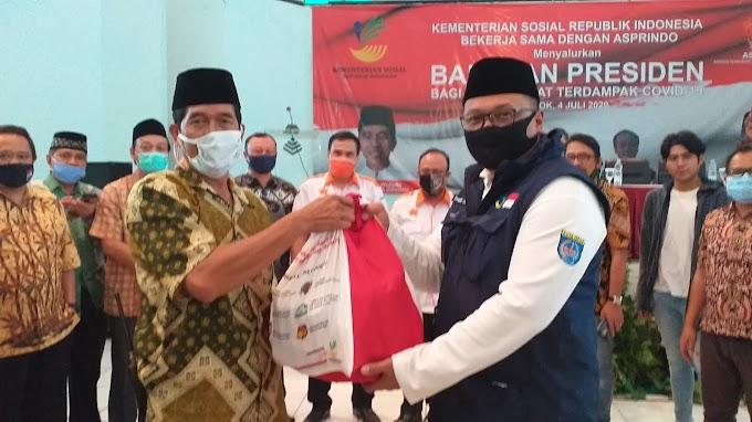 Asprindo Salurkan Puluhan Ribu Bansos Presiden Buat Warga Depok