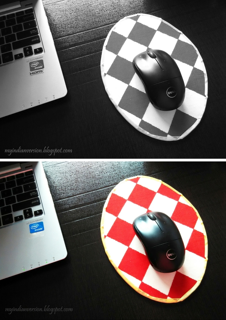Simple Mouse Halloween Costume: My Indian Version: DIY Quick And Easy MOUSE PAD