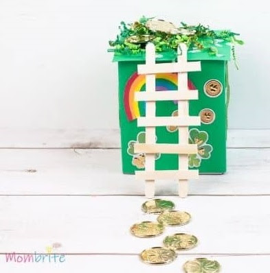 The Night Before St. Patrick's Day by Natasha Wing is a book inspired by 'Twas the Night Before Christmas. Read the book then build a leprechaun trap! Photo credit: Mombrite