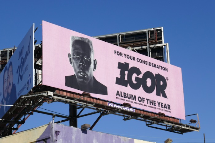 Tyler Creator Igor consideration billboard