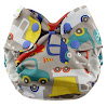 Blueberry Simplex All In One Diaper, Traffic, Newborn