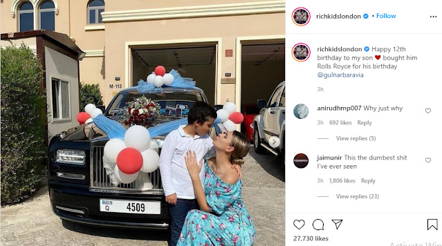 Businesswoman Gulnora Mukhedinova buys her son a Rolls Royce on his 12th birthday (photos)