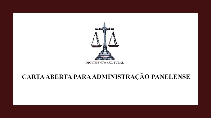 CARTA ABERTA PARA ADMINISTRAÇÃO PANELENSE