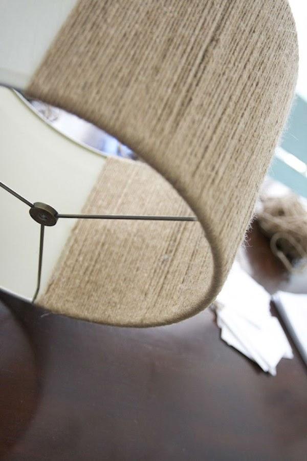 7 DIY para renovar las pantallas de las lámparas. Lámpara con textura