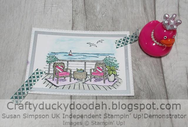 Craftyduckydoodah, Seaside View, Stampin' Up, Ink Stamp Share,