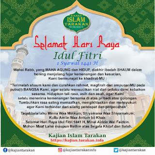 Selamat Hari Raya Idul Fitri 1 Syawal 1441 Hijriyah - Kajian Islam Tarakan