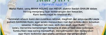 Selamat Hari Raya Idul Fitri 1 Syawal 1441 Hijriyah