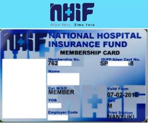 NHIF card