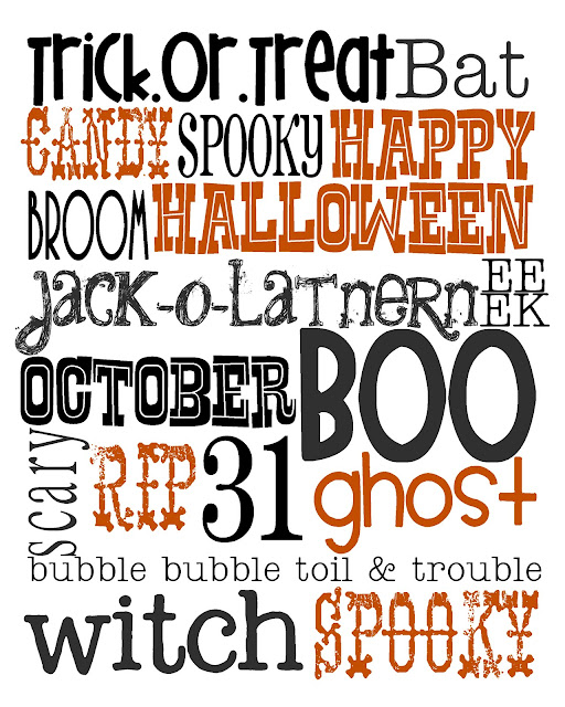 Halloween Subway Art Printable by Lovely Little Snippets.