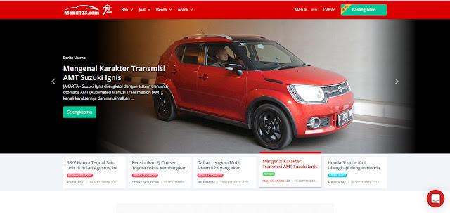 Laman berita Mobil123.com