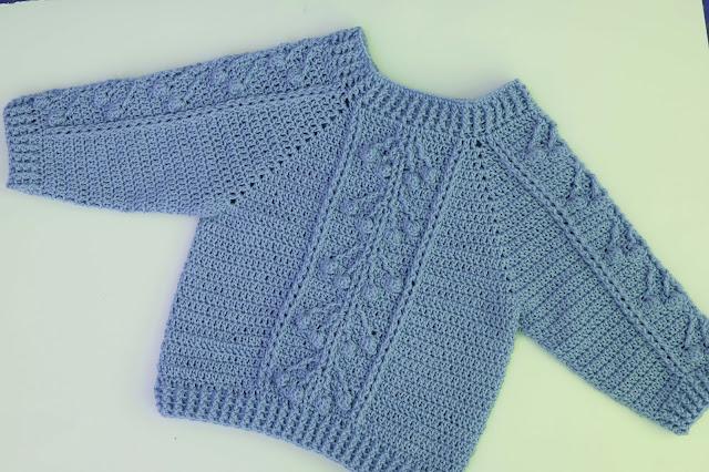 5 - Crochet Imagen Jersey con punto relieve especial invierno por Majovel Crochet