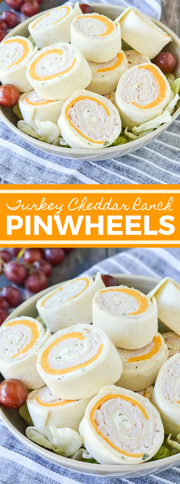 TURKEY CHEDDAR RANCH PINWHEELS #lunch #snack