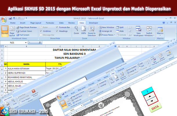 Download Aplikasi SKHUS SD 2015 dengan Microsoft Excel Unprotect dan Mudah Dioperasikan