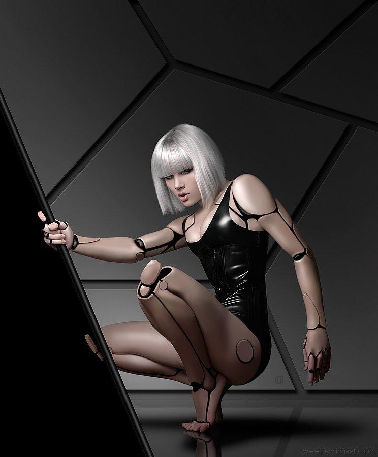 Mujer bonita modelado 3D