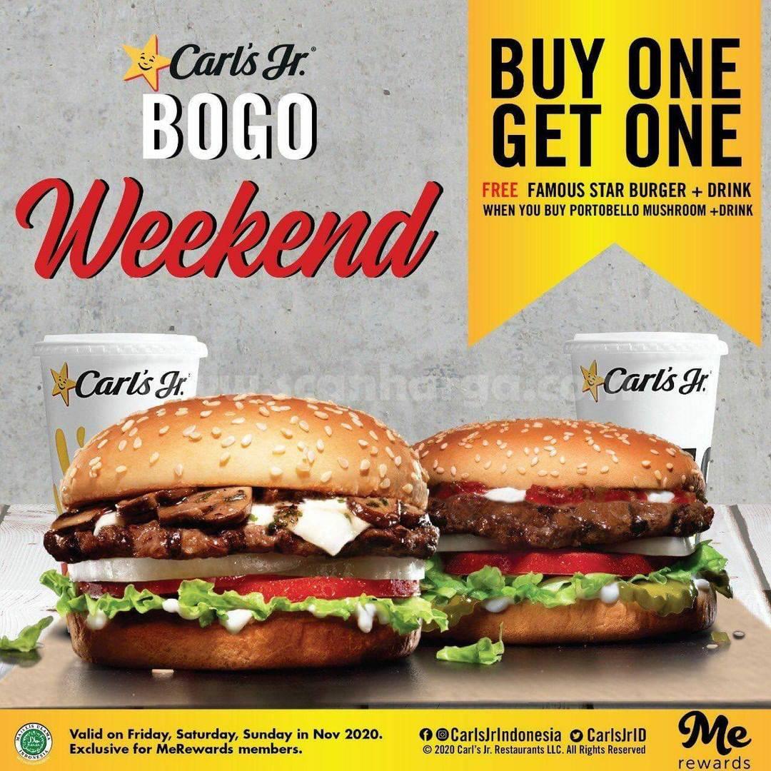 Carls Jr Weekend Promo BOGO Beli 1 Gratis 1 Edisi November 2020!