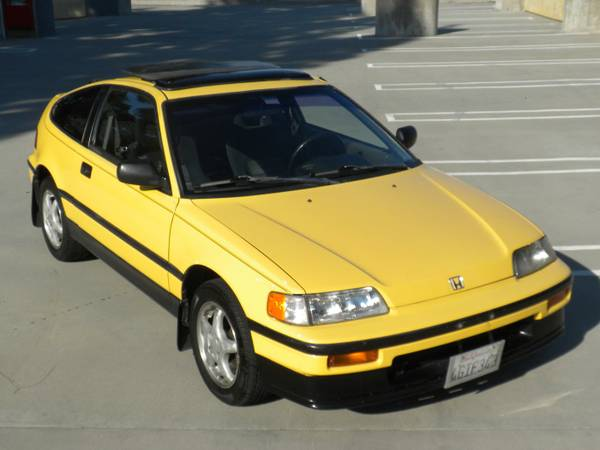 original low miles 1989 honda crx si auto restorationice. Black Bedroom Furniture Sets. Home Design Ideas