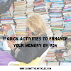 11 Quick Activities to Enhance Your Memory by 90%