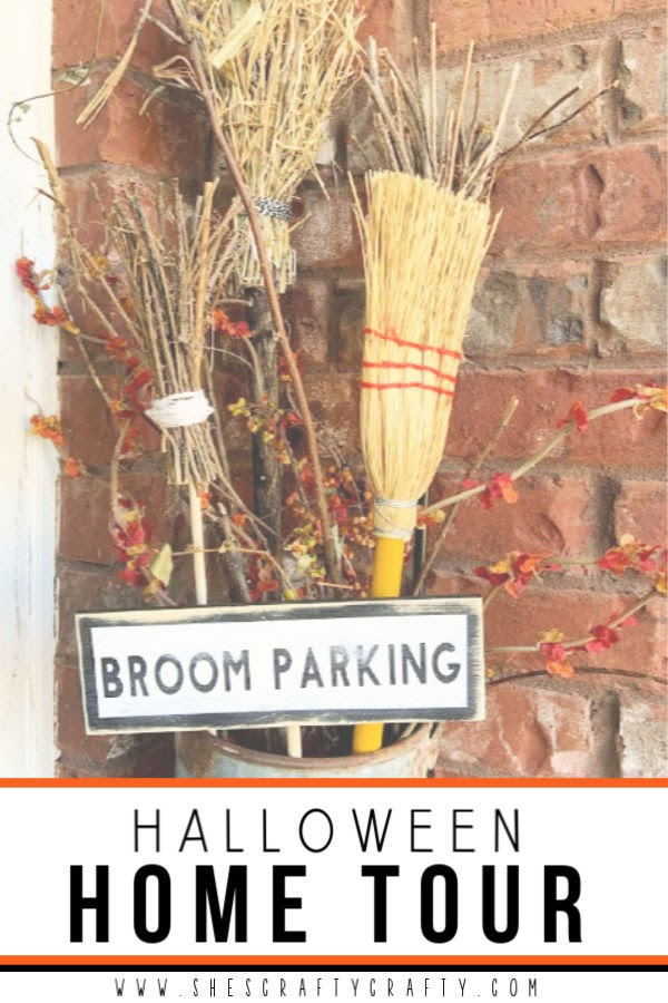 Halloween Home Tour - farmhouse style vignettes  |  She's Crafty