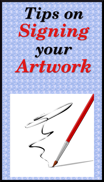 Signing your artwork