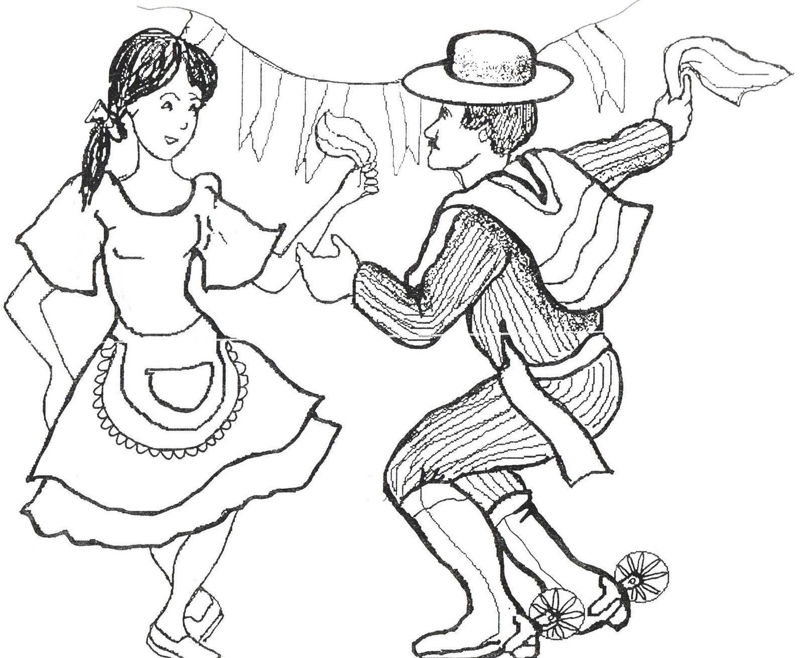 Dibujo De Chilena Para Colorear: Dibujos Para Colorear Fiestas Patrias Chile