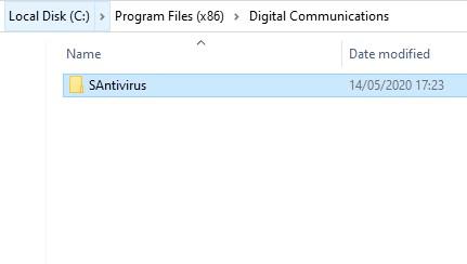 Folder SAntivirus