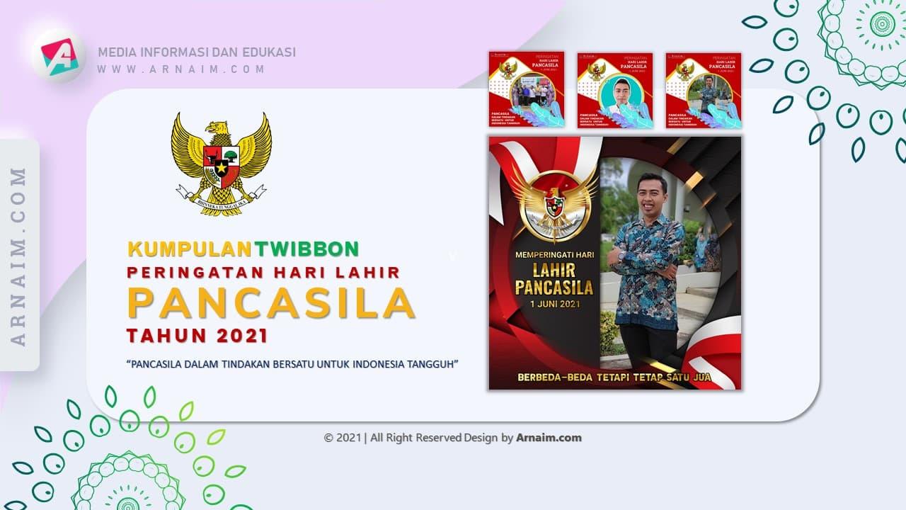 Arnaim.com - Kumpulan Twibbon Elegan Hari Lahir Pancasila Desain 1