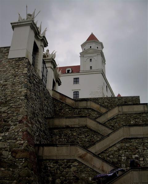 Bratysława, zamek, schody