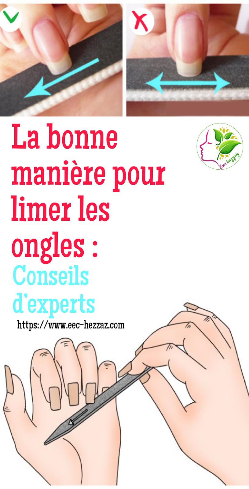 La bonne manière pour limer les ongles : Conseils d'experts
